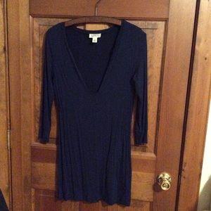 Ann Taylor Loft shirt dress, navy blue size S